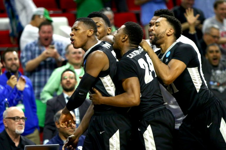 Providence defeats USC on a buzzer beater 70-69 during the First Round of the NCAA Tournament in Raleigh, NC on March 17, 2016.