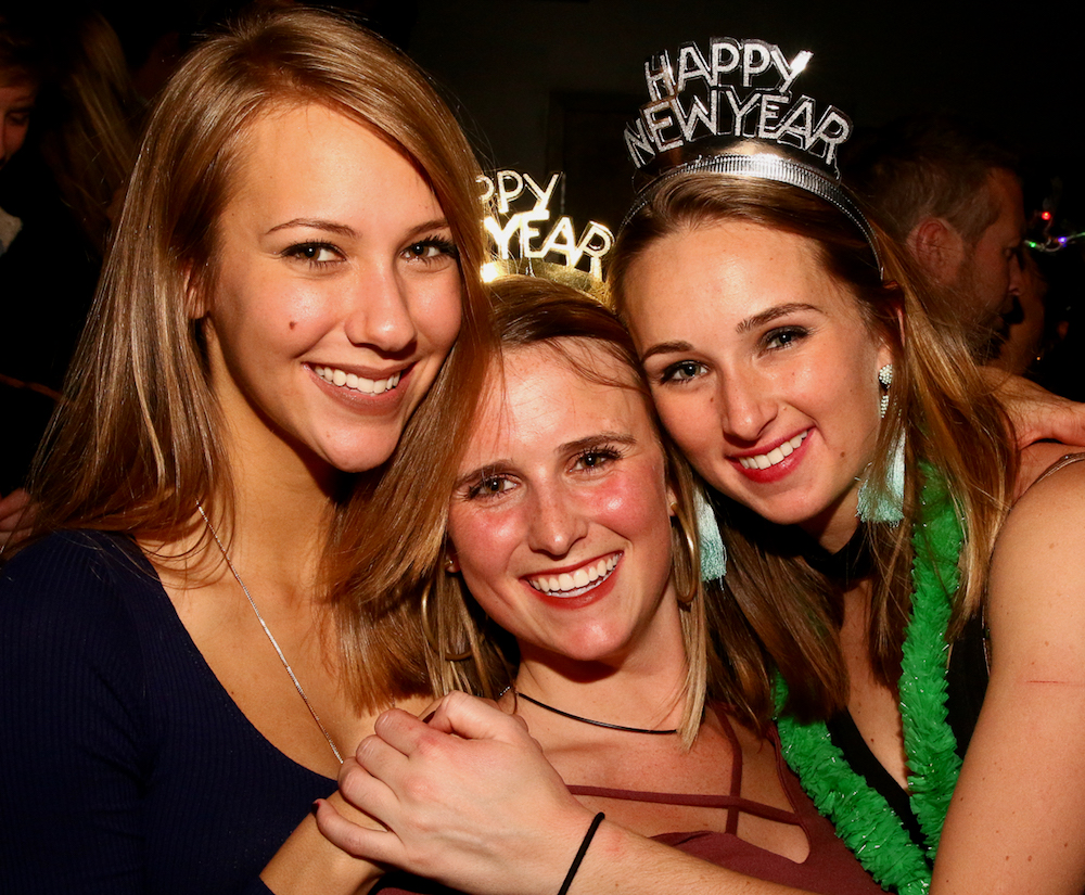 Revelers ring in the New Year at The Architect Bar and Social House on Dec. 31, 2016. (Photo by: Jerome Carpenter/WRAL Contributor)